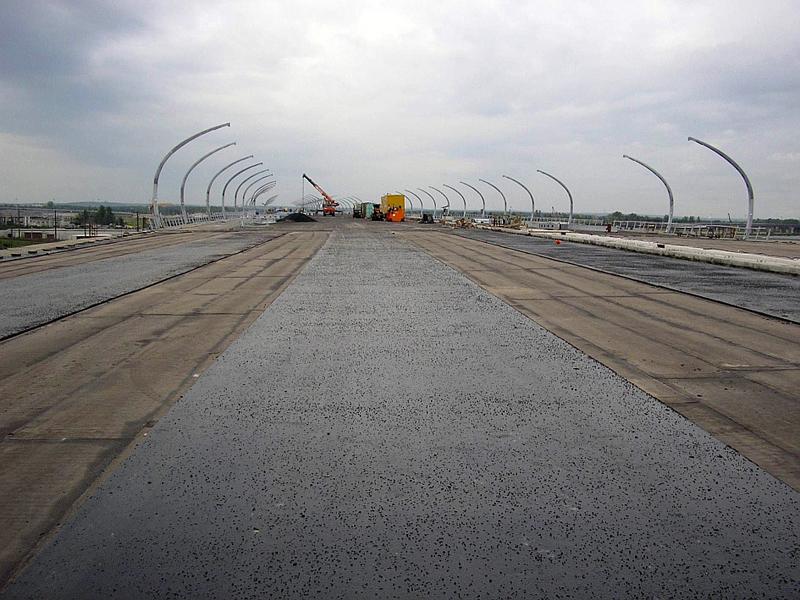 Западный скоростной диаметр. Гидроизоляция мостового полотна. Площадь – 15 000 кв. м.
